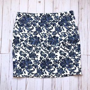 Ann Taylor Floral Mini Skirt